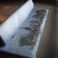 Torn and tattered couch in Low Gallery