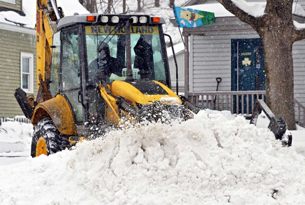 Troy February snow